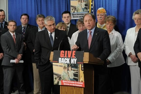 Assemblyman Steve Hawley discusses the G.I.V.E. Back NY Program, which would give disabled veterans more opportunities to have internships in the New York State Assembly.