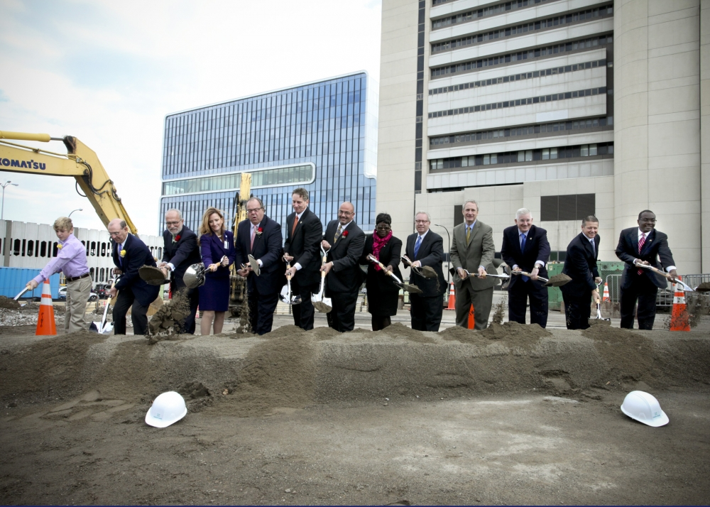 October 8th 2014 – Assemblywoman Crystal Peoples-Stokes at the groundbreaking of the new John R. Oishei Children's Hospital in downtown Buffalo.