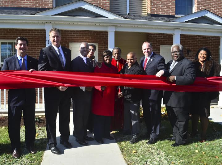 November 3, 2014 � Assemblywoman Crystal Peoples-Stokes at the ribbon cutting for new townhomes in the historic Fruit Belt neighborhood.