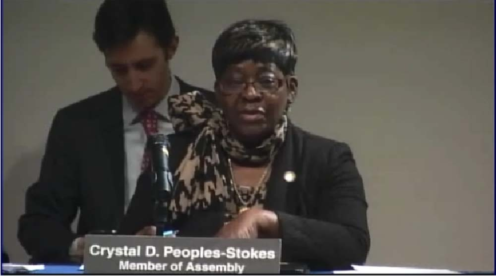 December 10, 2014 � Assemblywoman Crystal Peoples-Stokes speaks at the Public Hearing on the New York Health Bill to Create Single Payer Health Coverage.
