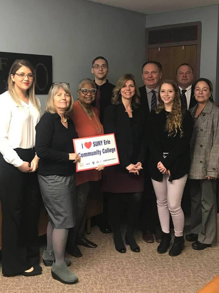 Assemblymember Monica Wallace joined in Albany this week by students and faculty from SUNY Erie to discuss the critical role that the community college plays in WNY.