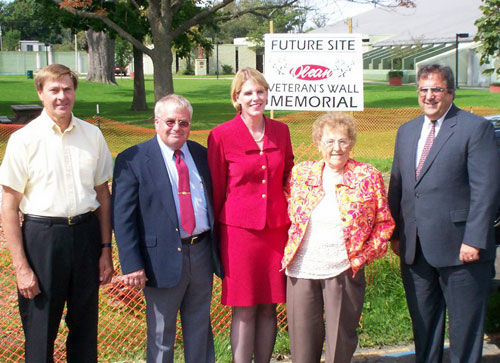 Assemblyman Joe Giglio with Senator Young, Bill Moore, Ed Goodliff and Ann Padlo at the Olean Veterans Wall Dedication Ceremony.