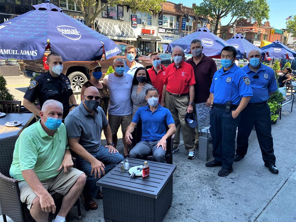 On July 9, 2020, Assemblyman Braunstein joined Community Board 11, Senator John Liu, Council Member Paul Vallone, the Bayside Village Business Improvement District, and the 111th Precinct, in celebrating the expansion of outdoor dining on Bell Boulevard.