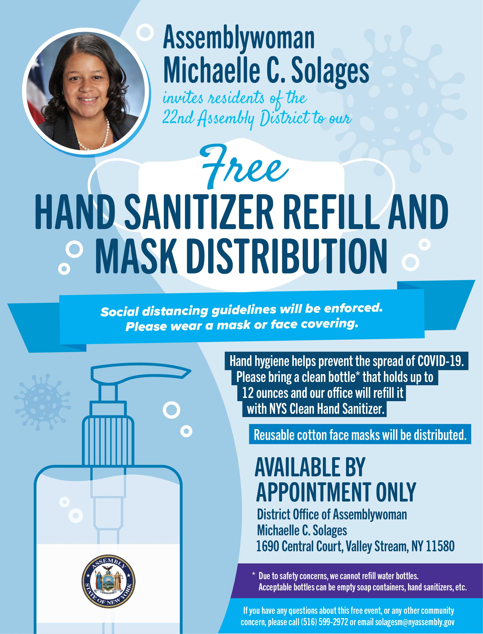 Hand Sanitizer Refill and Mask Distribution